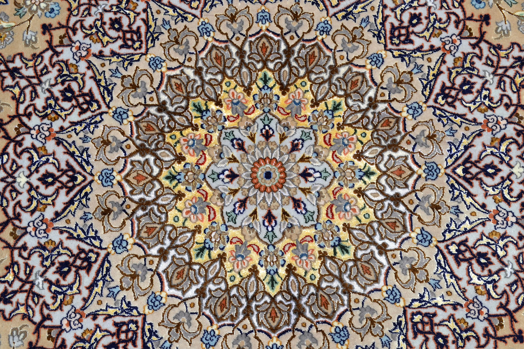 Isfahan Oversize Persian Area Rug Handwoven 12x17 silk base  (10)