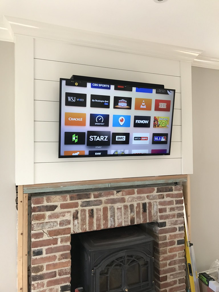 New A Custom DIY Fireplace Mantel Beneath Our Shiplap - Old Town Home IW97
