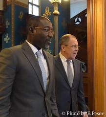 С.В.Лавров и И.Якуба | Sergey Lavrov & Ibrahim Yacouba