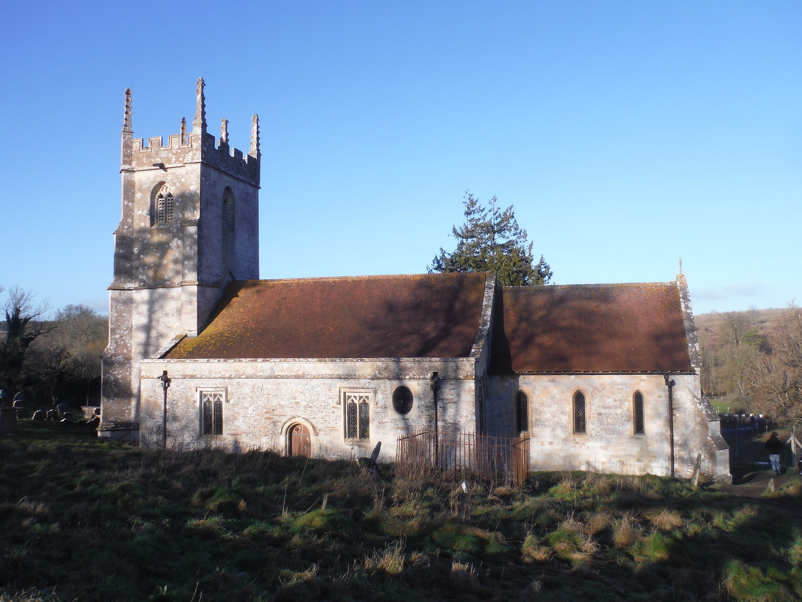 St. Giles, Imber Church and Churchyard SWC Walk 286 Westbury to Warminster (via Imber Range)
