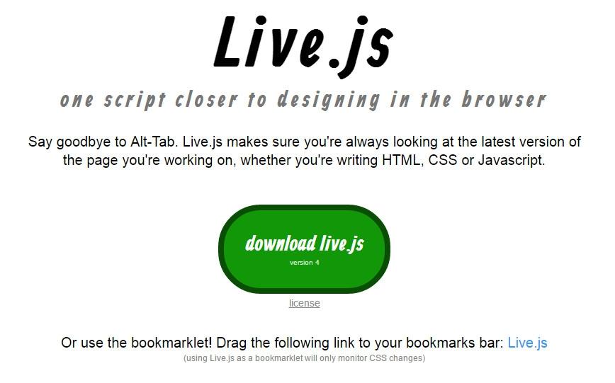 Live.js: Tự động refresh trang