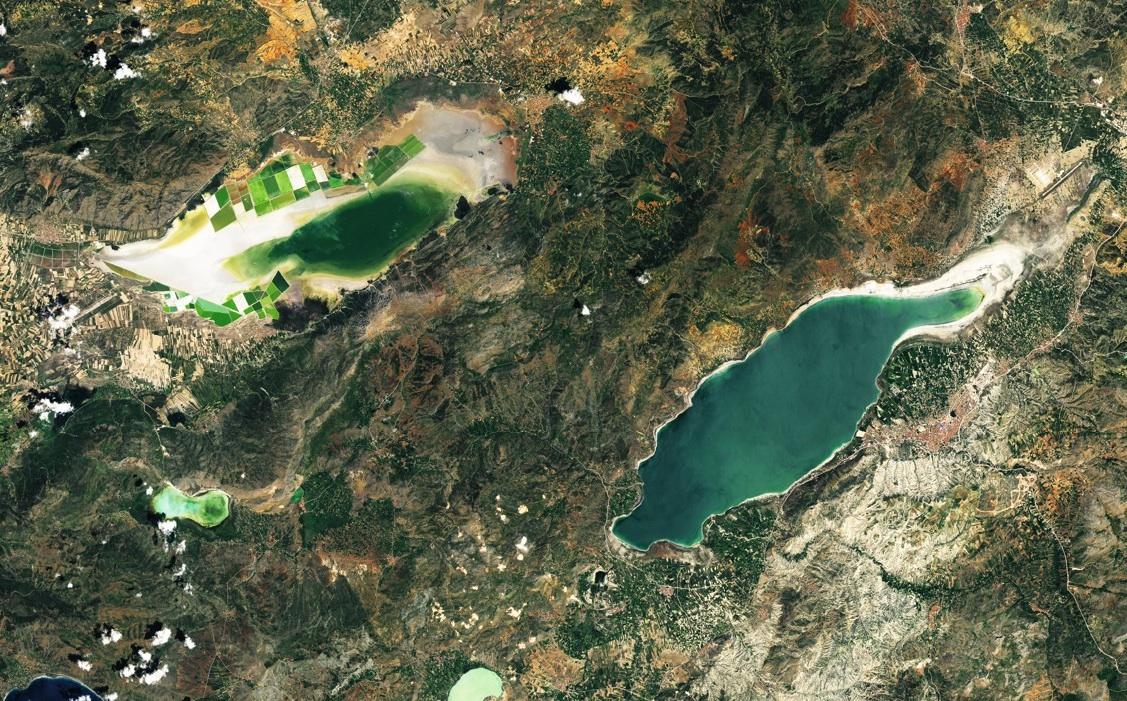 Landsat 8 | Lake Burdur and Acıgöl, Turkey