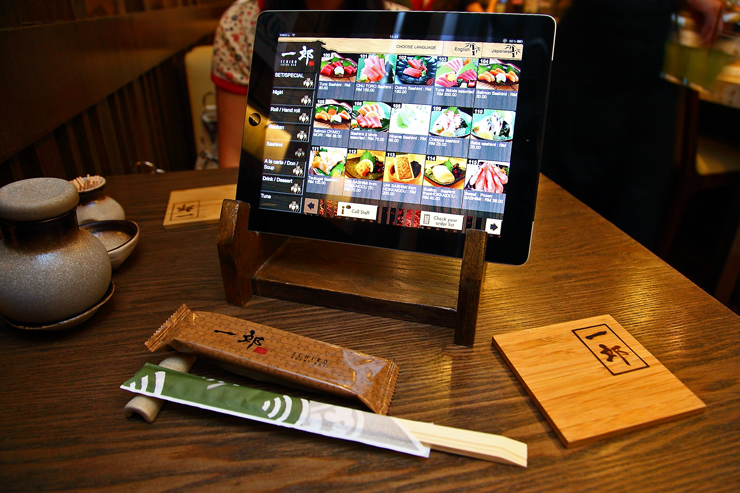 Ichiro Sushi Bar Ipad-Menu