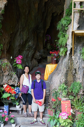 Nancy and Max visit a cave that has an entrance protected by a gentle waterfalll.