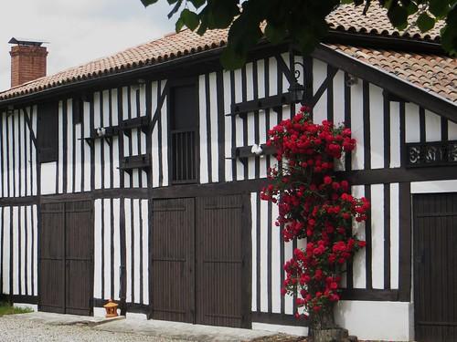 Grange de ferme, Lévignacq, pays de Born, Landes, Aquitaine, France.