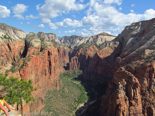 Looking upcanyon from the top of Angel's Landing, Zion National Park, Utah