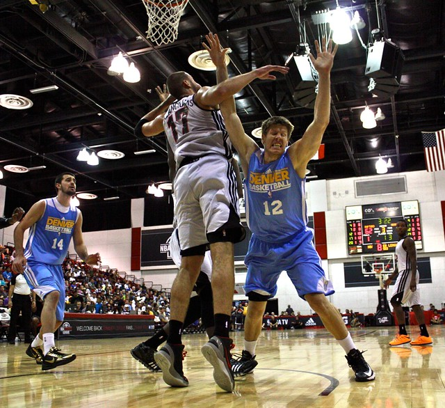 Luke Harangody and Jonas Valanciunas - 2013 NBA Summer League