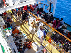 Crowded on deck