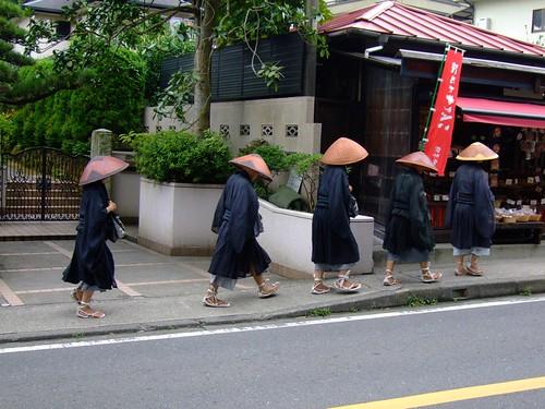 Monks walking in Kamakura