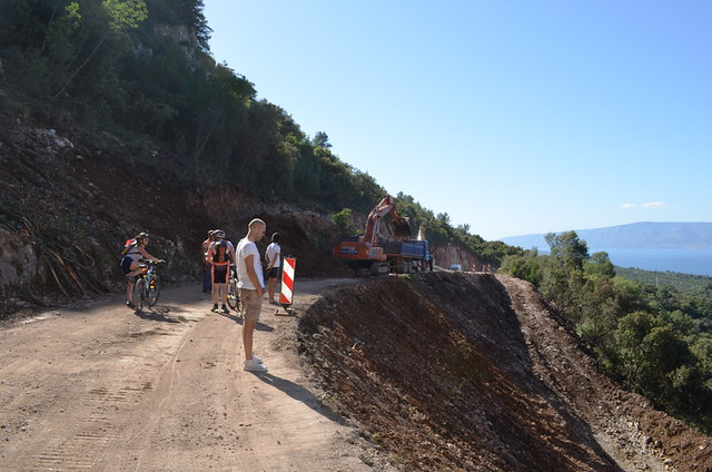 Road works, Sucuraj to Hvar Town