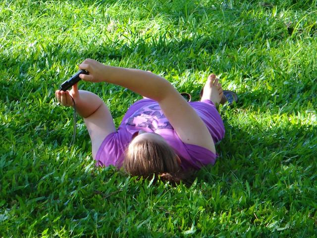 Selfie in the Grass