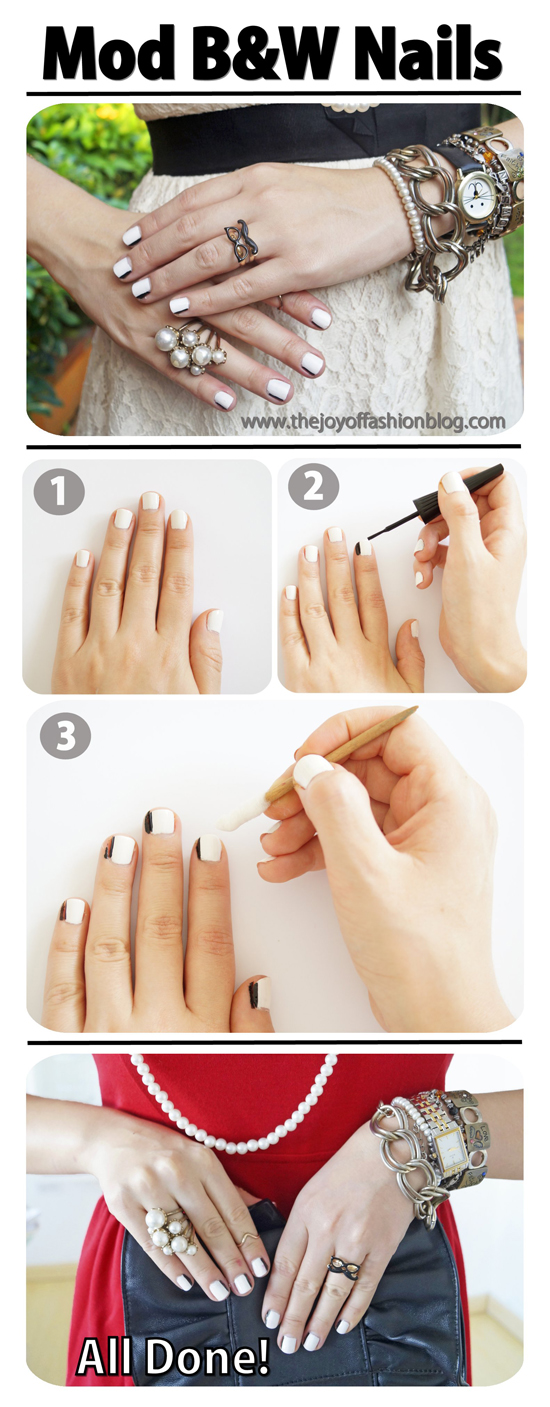 Mod B&W Nails Tutorial