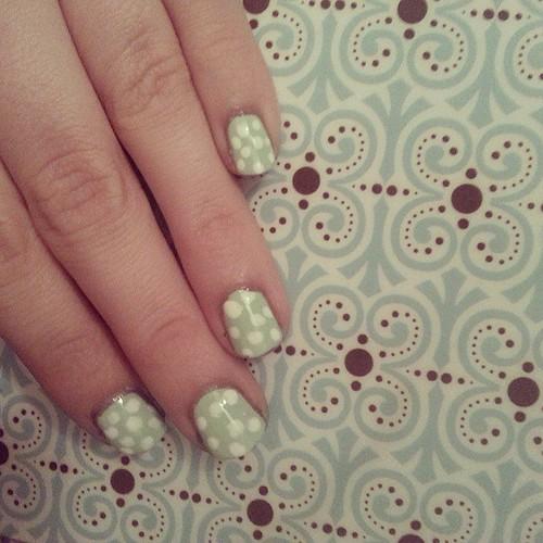 Mint nails. #nails #mani