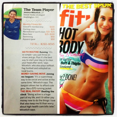 Look who's in this months @fitnessmag! Thanks to @meganerdruns for taking the picture and @chillemiz for props!