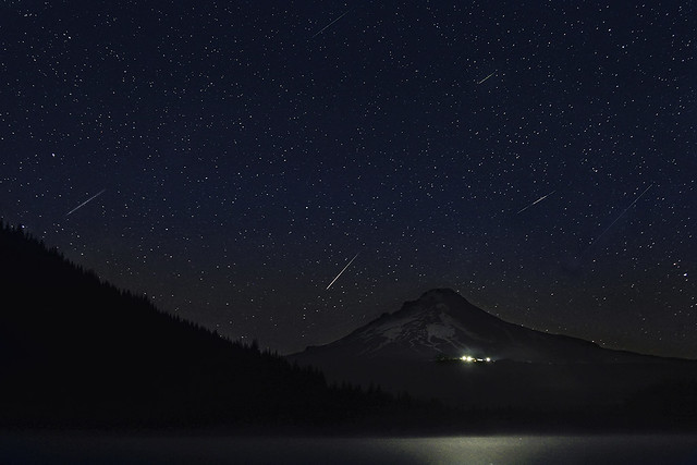 Perseid Meteor Shower at Trillium Lake 2013