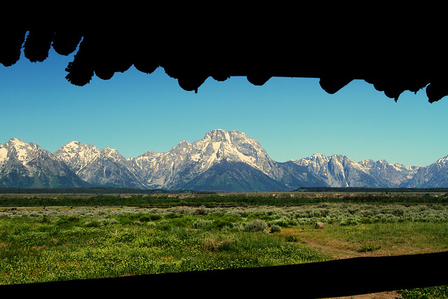Grand Tetons from the porch