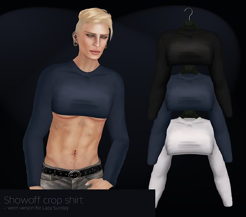 A:S:S - Showoff crop shirts, worn versions for Lazy Sunday by Pho Vinternatt