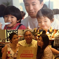Father's Day 2013 - My daughters then and now.