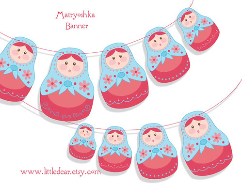 matryoshka dolls printable garland