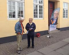 Det, for nogen, famøse Palle Svendsen banner ved Køge Rådhus d. 5. okt