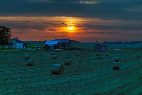 sunset fall rural ©jrj