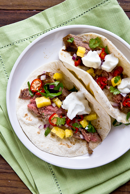 Pineapple Marinated Beef Fajitas