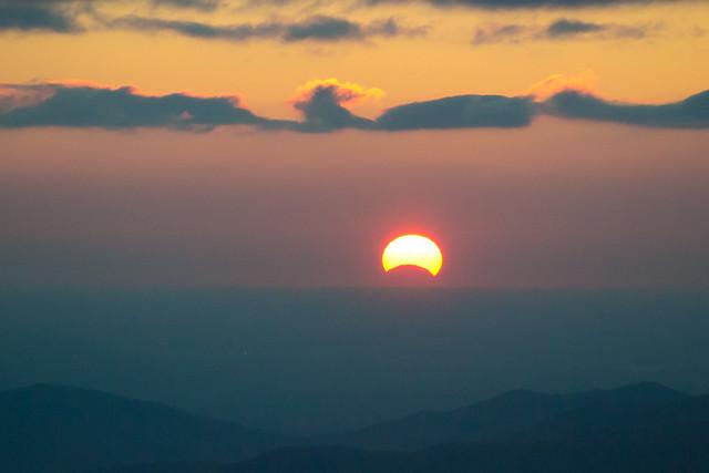 Partial Solar Eclipse Over the Blue Ridge