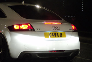 E4VA  R (Illegal registration plate)