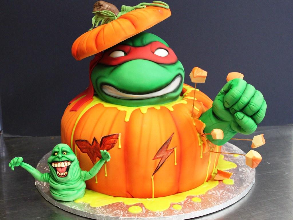 Cartoon Cookie Face Cake Ideas And Designs