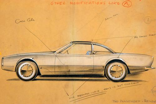 1963 Studebaker Avanti sketch