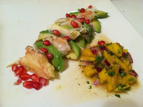 Crab avocado mango salad