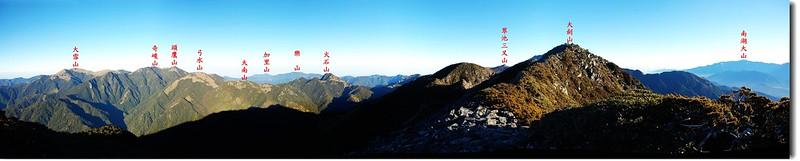 大劍山展望(From 大劍山南峰頂) 1