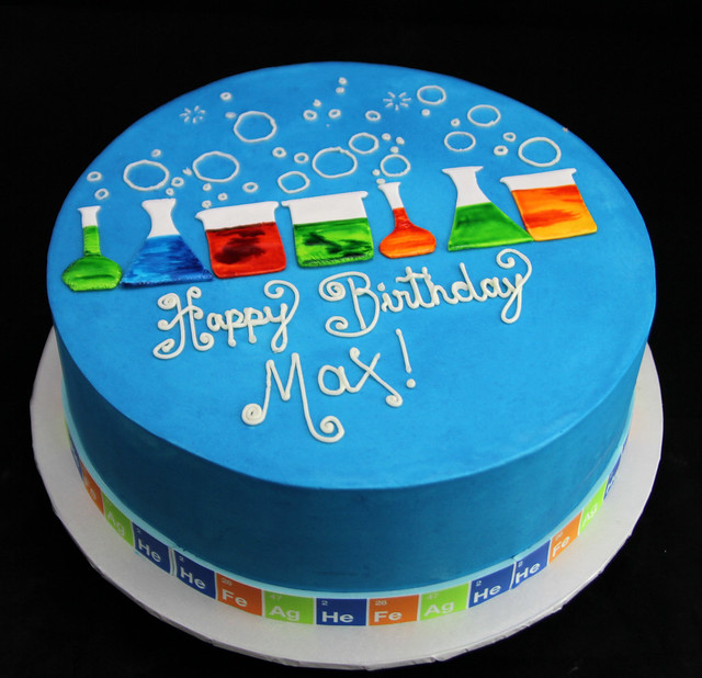 Science Experiments Birthday Cake