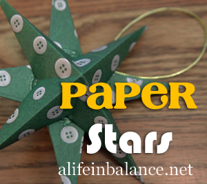 Crafting with Kids: Paper Star Ornaments