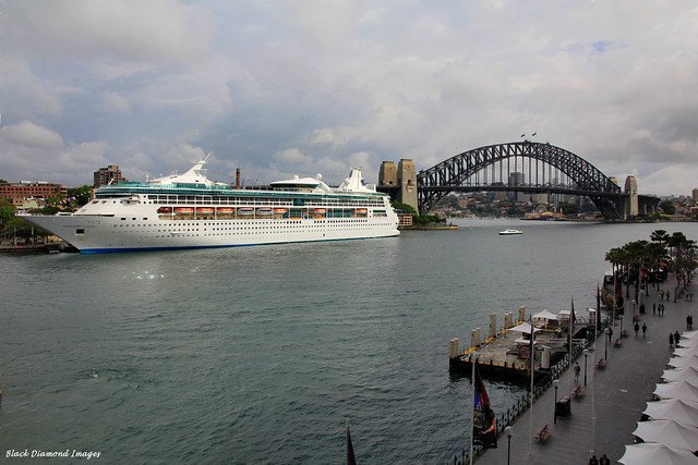Rhapsody of the Seas Cruise Ship Berthed in Circular Key, Sydney,  28th Oct 2013 as Viewed From the Pullman Hotel (Toaster)
