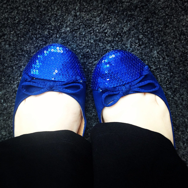 Sequin flats from Kmart