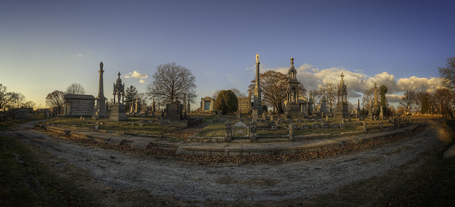 Lutheran Cemetery: Winter Sunset