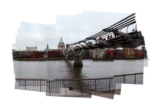 A Panograph of The Millennium Bridge and St Paul's.