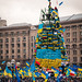Christmas tree in Kiev (Dec 8, 2013)
