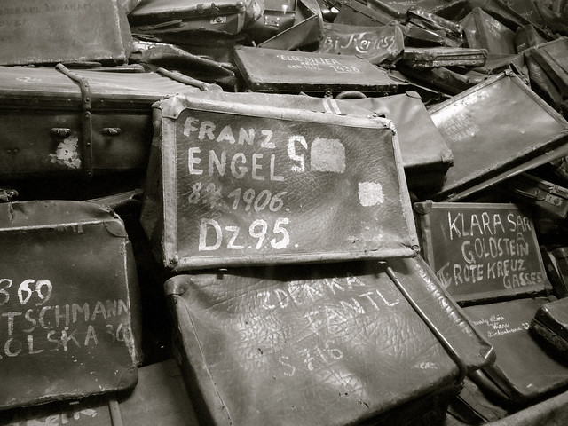 Suitcases at Auschwitz I