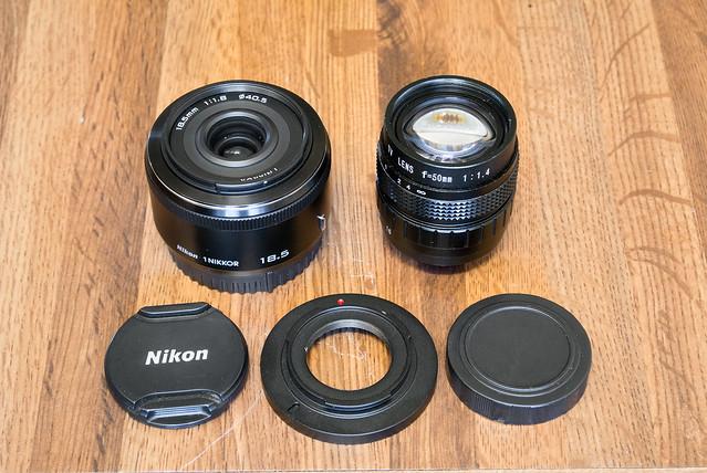Nikon V1 & Nikkor 18.5mm f/1.8 & C-Mount 50mm f/1.4