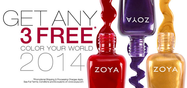 ZOYA Free Nail Polish Nails