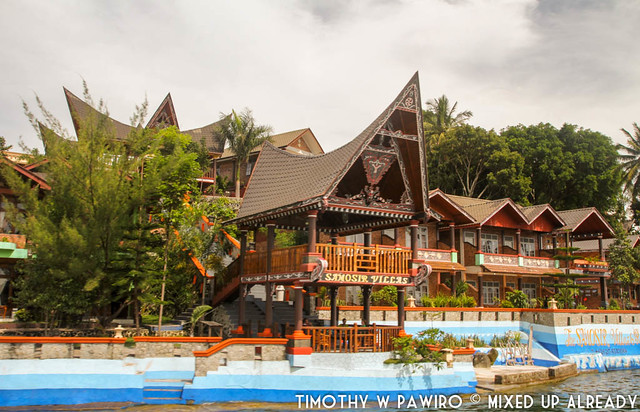 Indonesia - North Sumatra - Samosir Island - Boat ride at Lake Toba - Samosir Villas
