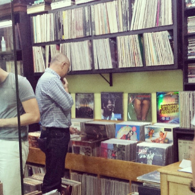 His happy place. #vinyl