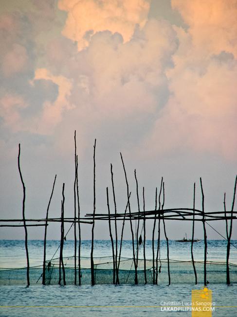 Fishing Nets at Jawili Beach in Tangalan, Aklan