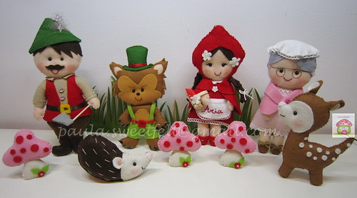 ♥♥♥ Para decorar a festinha dos 5 anos da Aria, já a caminho de Somerville, USA! by sweetfelt \ ideias em feltro