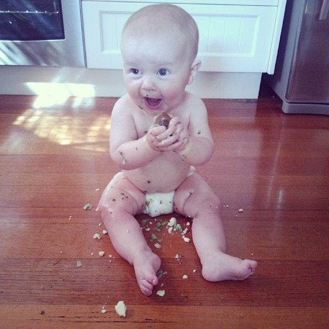 This is how #babyjagoe felt about his first taste of kiwi fruit. He is also a big fan of cheese as you can see.