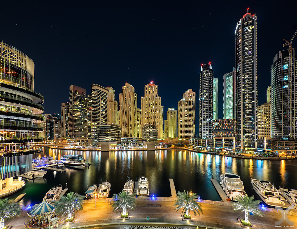 View from Dubai Marina Mall