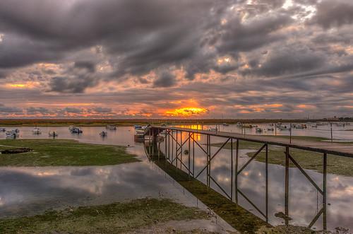 sunset sea seascape clouds faro cloudy algarve hdr riaformosa 56 481 tokina1224dxii nikond5100 ©ruijorge9666