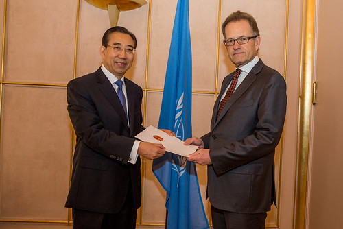 NEW PERMANENT REPRESENTATIVE OF CHINA PRESENTS CREDENTIALS